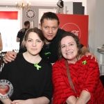 Pictured at the Ruby Sundays cafe for the EmployAbility Limerick's 'Time to Talk' day are Julian Stark, Marcel Coetzee and Amanda Clifford, A.B.C for Mental Health. Picture: Conor Owens/ilovelimerick.