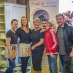 Pictured at the Enable ireland Coffee Morning in the Hook and Ladder were Joanna Ferenc, Aisling Ryan, Hook and Ladder, Ann Enright, Mikey O' Doherty and Killian Fitzgerald, Enable Ireland. Picture: Cian Reinhardt/ilovelimerick