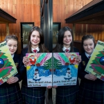 22.11.2016 REPRO FREE Christmas has come early for two Limerick students after they were named overall winners of the 2016 Limerick City Fairtrade Christmas Card Competition at a ceremony in The Savoy Hotel. Pictured at the ceremony were John the Baptist Community School in Hospital Special Prizewinners for card promoting Fairtrade, Ciara Nash and Anna O'Riordan. Picture: Alan Place Jessica Griffin, a first year student at John the Baptist Community School in Hospital and fifth class pupil Paul Reddan from Corpus Christi Primary School in Moyross were chosen ahead of hundreds of other local primary and secondary school students who took part. Picture: Alan Place
