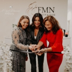 Fiona with Suzanne Jackson and Celia Holman Lee at the launch of FMN