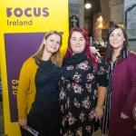Rebecca Reynolds, Patrice Kelleher and Máiréad Cummane, Focus Ireland. Pic: Cian Reinhardt/ilovelimerick