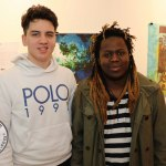 Luke Culhane, Castletroy and Nhlanhla Banda, St Johns Square pictured at the Belltable for the Limerick Munster Heats of Irelands Young Filmmaker of the Year 2020. Picture: Beth Pym/ilovelimerick