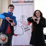Pictured at the Galway regional heats for Ireland's Young Filmmaker of the Year Awards 2019 at the Town Hall Theatre in Galway are finalist Johnathan Connolly, 19 and Amy Murphy, 19 from Galway for the screening of Johnathan's film 'Lurker in the Woods'. Picture: Conor Owens/ilovelimerick.
