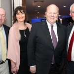 Pictured here is Alan Kavanagh, Ellen O'Mahony, Michael Noonan, minister for health and Dave Sheehan, an garda siochana  at The Strand Hotel. Friday, February 23, 2018. Picture: Sophie Goodwin/ilovelimerick