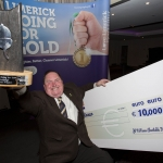 09.10.2018.           REPRO FREE Athea and Kilteely strike gold as final decision is too close to call. There were double the celebrations at the Limerick Going For Gold grand final this evening [Tuesday 09 October 2018] as Athea and Kilteely were jointly named as overall winners of the Limerick Going For Gold competition for 2018.   Pictured is Kilteely's John McCarthy. Picture: Alan Place