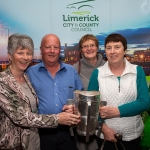 09.10.2018.            Athea and Kilteely strike gold as final decision is too close to call. There were double the celebrations at the Limerick Going For Gold grand final as Athea and Kilteely were jointly named as overall winners of the Limerick Going For Gold competition for 2018.   Pictured at the event were, Margaret Flynn, Seamus Mulcahy, Mary Murphy and Ellen Riordan, Templeglantine Tidy Towns. Picture: Alan Place