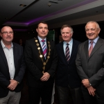 09.10.2018.            Athea and Kilteely strike gold as final decision is too close to call. There were double the celebrations at the Limerick Going For Gold grand final as Athea and Kilteely were jointly named as overall winners of the Limerick Going For Gold competition for 2018.   Pictured at the event were, Cllr. Frances Foley, Mayor of Limerick City and County Council Cllr. James Collins, Cllr. Joe Pond and Cllr. Jerry O'Dea. Picture: Alan Place
