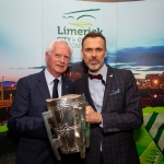 09.10.2018.            Athea and Kilteely strike gold as final decision is too close to call. There were double the celebrations at the Limerick Going For Gold grand final as Athea and Kilteely were jointly named as overall winners of the Limerick Going For Gold competition for 2018.   Pictured at the event were, Gerry Boland, JP McManus Charitable Foundation and Richard Lynch, ILove Limerick. Picture: Alan Place