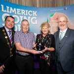 10.10.2018.               Limerick Going For Gold is a community based competition aimed at making Limerick a cleaner, brighter place to work, live and visit.  It is sponsored by the JP McManus Charitable Foundation and has a total prize pool of over €80,000.  It is organised by Limerick City and County Council and supported by Limerick's Live 95FM, The Limerick Leader and The Limerick Post, Parkway Shopping Centre, I Love Limerick and Southern Marketing Media & Design.   Mayor of Limerick City and County Cllr. James Collins and Roger Beck, Parkway Shopping Centre presented the Most Beautiful Garden Overall winner to John and Ita Carroll, Castlemahon. Picture: Alan Place