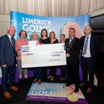 10.10.2018.               Limerick Going For Gold is a community based competition aimed at making Limerick a cleaner, brighter place to work, live and visit.  It is sponsored by the JP McManus Charitable Foundation and has a total prize pool of over €80,000.  It is organised by Limerick City and County Council and supported by Limerick's Live 95FM, The Limerick Leader and The Limerick Post, Parkway Shopping Centre, I Love Limerick and Southern Marketing Media & Design.   Gerry Boland, JP McManus Charitable Foundation and Mayor of Limerick City and County Cllr. James Collins presented Challenge Award to, Newcastle West. Picture: Alan Place