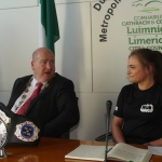 Cllr Seán Lynch, Mayor of the Metropolitan District of Limerick at a Mayoral reception honoured Hayley Kiely(18) from the Learning Hub Kickboxing Club who is the IKF Irish Champion, IKF 5 Nations Champion, the IKF Junior Champion and is a holder of a World Silver Medal. Picture: Ciara Maria Hayes/ilovelimerick 2018. All Rights Reserved.