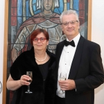 Pictured at the gala fundraiser for the upcoming Lavery/Osborne Symposium in the Hunt museum are Professor Kerstin Mey, Universoty of Limerick, and Professor Simon Hughes-King, Kings College London. Picture: Conor Owens/ilovelimerick.