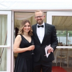 Pictured at the gala fundraiser for the upcoming Lavery/Osborne Symposium in the Hunt museum are Nicole and Nathan Tenzer. Picture: Conor Owens/ilovelimerick.