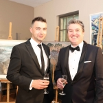 Pictured at the gala fundraiser for the upcoming Lavery/Osborne Symposium in the Hunt museum are Mike Ryan and Rory Corbett. Picture: Conor Owens/ilovelimerick.