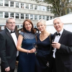 Pictured at the gala fundraiser for the upcoming Lavery/Osborne Symposium in the Hunt museum are Aiden Cll, Deirdre Coll, Maureen Lynch and John Dineen. Picture: Conor Owens/ilovelimerick.