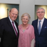 Pictured at the gala fundraiser for the upcoming Lavery/Osborne Symposium in the Hunt museum are Pat Cox, Cathy Cox and Michael Noonan. Picture: Conor Owens/ilovelimerick.