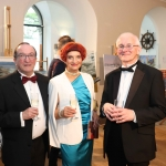 Pictured at the gala fundraiser for the upcoming Lavery/Osborne Symposium in the Hunt museum are Thomas Fennesy, Dr Sonja Heidrich and Dr Mathew Potter. Picture: Conor Owens/ilovelimerick.