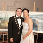 Pictured at the gala fundraiser for the upcoming Lavery/Osborne Symposium in the Hunt museum are Cllr James Collins, Mayor of Limerick City and Council and his wife Eileen Collins. Picture: Conor Owens/ilovelimerick.