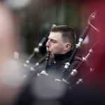 19/3/17 REPRO FREE Shane McKenna, City of Limerick Pipe Band at the 7th Limerick International Band Championship, Limerick. Illinois State University have been named as the overall winners of the 47th Limerick International Band Championship. Around 1,000 musicians performed in the event saw 17 bands from the United States, Germany, England, Northern Ireland, Tipperary, Dublin, Donegal and Westmeath as well as Limerick marching down O'Connell Street in Limerick as part of the Limerick St Patrick's Festival 2017. Tens of thousands of spectators braved the weather and lined the route, cheering on the competitors in what is Ireland's only marching band competition. Illinois State University were presented with the Kenneally Jewellers Perpetual Trophy as overall winners of the championship organised by Grooveyard on behalf of Limerick City and County Council. Picture Sean Curtin True Media.