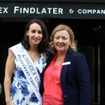 The  International Rose of Tralee tour visited Alex Findlaters restaurant in Limerick on August 15.  Pictured: Hazel Ní Chathasaigh, Limerick Rose 2018 and Jacinta Khan, Group Social Media Manager of George Hotel. Photo: Zoe Conway/ilovelimerick