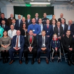 12-12-18 Dr Pat Daly, Director and Deputy Chief Executive Limerick City and County with Mayor of Limerick City and County Council James Collins with fellow Council members and receipants at  a Civic Reception held in recognition of International Sporting Achievements of Persons from Limerick in 2018 held in Istabraq Hall, Limerick City and County Council, Corporate Headquarters, Merchant's Quay, Limerick. 