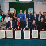 12-12-18 Dr Pat Daly, Director and Deputy Chief Executive Limerick City and County with Mayor of Limerick City and County Council James Collins with receipants at a Civic Reception in recognition of the International Sporting Achievements of Persons from Limerick in 2018
