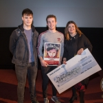 Eamonn MacMahon, Irish Young Film Maker of the Year Senior Award 2017 winner with John, 17, winner of Ireland's Young Filmmaker of the Year Senior Award 2018 pictured with Jayne Foley, Founder and Creative Director of Fresh Film Festival at Odeon Cinema, Castletroy Limerick for Fresh Film Festival 2018. Picture: Cian Reinhardt/ilovelimerick