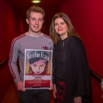 John, 17, winner of Ireland's Young Filmmaker of the Year Senior Award 2018 pictured with Jayne Foley, Founder and Creative Director of Fresh Film Festival at Odeon Cinema, Castletroy Limerick for Fresh Film Festival 2018. Picture: Cian Reinhardt/ilovelimerick