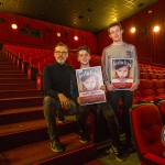 Richard Lynch, ilovelimerick with Luke, (15), Castletroy, Limerick winner of the RTE Factual Award, and John, (17), winner of the Senior Ireland's Young Filmmaker of the Year Awards 2018 which took place at Odeon Cinema, Castletroy Limerick. Picture: Cian Reinhardt/ilovelimerick