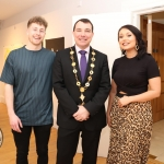 Writer Sean McNamara, Cllr James Collins, Mayor of Limerick City and Council, and director Leah Morgan  pictured at the screening of 'It will rise with the moon' at the Hunt Museum. Picture: Orla McLaughlin/ilovelimerick.