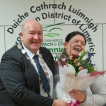 Julie Normoyle with Mayor Lynch at Mayoral reception 27-01-2018