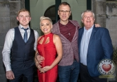 Pictured at the John McNamara Exhibition and Achievement Award at the Hunt Museum were Paul McNamara, Award Designer, Sinead Clohessy, Specsavers Limerick, Richard Lynch, ilovelimerick and Gerry McNamara, John McNamara's brother. Picture: Cian Reinhardt/ilovelimerick