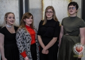 Pictured at the John McNamara Exhibition and Achievement Award at the Hunt Museum were Déana Morrissey, Abby Sheehy, Karolina Mikolajczak and Kiera Lily, students from Limerick School of Further Education. Picture: Cian Reinhardt/ilovelimerick