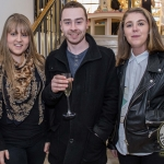 Pictured at the John McNamara Exhibition and Achievement Award at the Hunt Museum were Emilie Kearney, Sam McMahon, Sophie Hogan of Dooradoyle. Picture: Cian Reinhardt/ilovelimerick