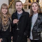 Pictured at the John McNamara Exhibition and Achievement Award at the Hunt Museum were Emilie Kearney, Sam McMahon, Sophie Hogan of Dooradoyle. Picture: Cian Reinhardt/ilovelimerick