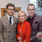 Pictured at the John McNamara Exhibition and Achievement Award at the Hunt Museum were, Darren Kennedy, Specsavers Ireland, Caroline McKillican, Richard Lynch. Picture: Cian Reinhardt/ilovelimerick