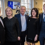 Pictured at the John McNamara Exhibition and Achievement Award at the Hunt Museum were Michael McNamara, Ann McNamara, Gerry McNamara, Liz McNamara and John McNamara. Picture: Cian Reinhardt/ilovelimerick