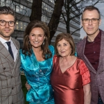 Pictured at the John McNamara Exhibition and Achievement Award at the Hunt Museum were Darren Kennedy, Specsavers Ireland, Celia Holman Lee, Holman Lee Agency, Michelina Scapool and Richard Lynch, ilovelimerick. Picture: Cian Reinhardt/ilovelimerick