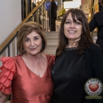 Pictured at the John McNamara Exhibition and Achievement Award at the Hunt Museum were Limerick designers Michelina Stacpoole and Caroline Mitchell. Picture: Cian Reinhardt/ilovelimerick