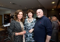 1/4/14 Celia Holman Lee, Catherine Murphy and John McNamara.  Multi award winning novelist Donal Ryan and Proud Limerick woman, fashion stylist and TV presenter Celia Holman Lee was also honoured at the ceremony with a Lifetime Achievement Award.  Multi award winning novelist Donal Ryan has been announced as the 2013 Limerick Person of the Year.  The announcement was made today, Tuesday, April 1st, at a gala awards lunch in the Clarion Hotel, Limerick where Fashion Queen, Celia Holman Lee, was also honoured with a Lifetime Achievement Award.  Mr Ryan, (37) Castletroy, Limerick achieved worldwide acclaim for his debut novel 'The Spinning Heart' which was longlisted for the Booker Prize in 2013. The publication also won the Bord Gáis Energy Book of the Year 2012 and the 2013 Guardian First Book Award.  The Spinning Heart, written in 2010, has been described as an original, poignant and timely debut and one of the first literary novels to deal with the catastrophic social and human effects of Ireland's financial collapse.   Proud Limerick woman, fashion stylist and TV presenter Celia Holman Lee was also honoured at the ceremony with a Lifetime Achievement Award.  Limerick Leader editor Alan English said Ms Holman Lee's pride in her city and determination to fly the flag for Limerick at every opportunity was the ultimate reason she was selected for an award. Pic Sean Curtin Photo.