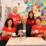 Pictured at the launch of Kilmartin's coffee morning in aid of Live 95's Helping Limerick Charities event is Amanda Flannery, Live 95, Julie Kilmartin, Kilmartin's Educatinal Service (back row), Mary Madden, Community Employment Supervisor CARI, Phil Mortell, Chair of Children's Grief Centre and Phil Deegan, fundraiser and marketing co-ordinator, Cliona's (front row). Pictures: Kate Devaney/ilovelimerick