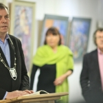 2017-03-20 Launch at the Red Door Gallery, Newcastle West, of Eigse Michael Hartnett 6th, 7th and 8th April 2017 PHOTOGRAPHY: DERMOT LYNCH Cllr John Sheahan, Cathaoirleach of the Municipal District of Newcastle West speaking at the launch of Eigse Michael Hartnett this week in the Red Door Gallery, Newcastle West