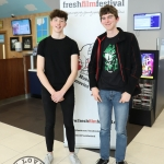 Pictured are Ireland's Young Filmmaker of the Year Awards 2019 finalists Matthew Howe, 18 and Reuben Harvey, 18 both from Laois who won the Audience Award for their film 'Picture This' at the Leinster regional heats of the Fresh Film Festival at the Irish Film Institute. Picture: Orla McLaughlin/ilovelimerick.
