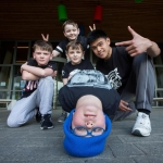 01.04.2017 REPRO FREE Limerick Lifelong Learning Festival, Mary Immaculate College Limerick. Pictured at the event were, Cillian Moloney, Kelin Daly, Angelo Cris Bangay, Jayden Daly and Eryk Tyloch, Limerockers. Picture: Alan Place.