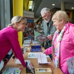 01.04.2017 REPRO FREE Limerick Lifelong Learning Festival, Mary Immaculate College Limerick. Pictured at the event were, Maria Cagney, Hunt Museum, Tom and Breda McNamara. Picture: Alan Place.