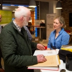 04.04.2017 REPRO FREE Digitisation and Archives professionals from the Gluksman Library University of Limerick presented a talk on Attics to Archives at the Bank of Ireland Workbench for the Limerick Lifelong Learning Festival. Pictured at the event were, Ger Griffin with a collection of letters dating from 1798-1800 relating to tobacco growing in Ireland and letters from 1916 military related with Evelyn McAuley, Glucksman Library. Picture: Alan Place