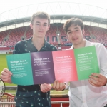 Robert McDonald (15) and Jordan Cassells (19) at the Limerick and Clare Education and Training Board Youth Work Plan Launch, Thomond Park, Thursday, May 31st, 2018. Picture: Sophie Goodwin/ilovelimerick