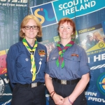 Martina Harrison and Reggie Quinn from Scouts Ireland at the Limerick and Clare Education and Training Board Youth Work Plan Launch, Thomond Park, Thursday, May 31st, 2018. Picture: Sophie Goodwin/ilovelimerick