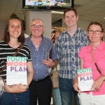Angie Smalis, Gerry Kirby, John Hogan and Deirdre Wilson, all from Limerick Youth Theatre at the Limerick and Clare Education and Training Board Youth Work Plan Launch, Thomond Park, Thursday, May 31st, 2018. Picture: Sophie Goodwin/ilovelimerick