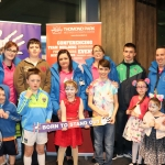 Pictured at the launch of Limerick Autism Group's #borntostandoutcampaign are Caroline Hogan, Matthew Hogan, Susan Pierce, Candice Enright, Joey Enright and Keith Enright (back) and Joey Hogan, Caoimhín Hogan, Willow Spratt, James Enright, and Isabella Enright (front).  Picture: Orla McLaughlin/ilovelimerick.